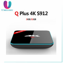Newest Q Plus Android TV BOX 6.0 2G/16G S912 Octa-core Set Top Box Wifi Media Player better than t95z plus h96 pro x96