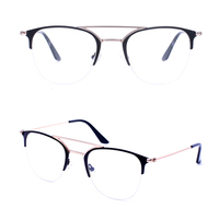 SRM114 oem metal double bridge optical eyeglasses frame