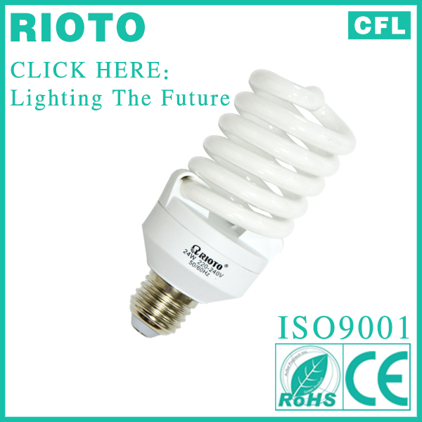 china supplier energy saver E27 base T3 10mm 25W full spiral power saving CFL appliance lamp