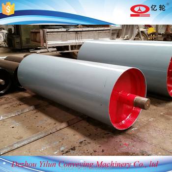 Belt conveyor pulley drum