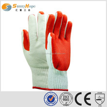 knitted construction red Latex rubber utility gloves