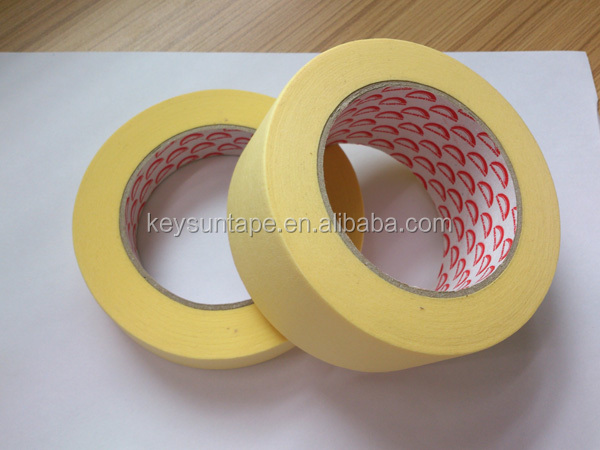 100 Degree High Temperature and Adhesion Grade Spray Car Painting Masking Tape