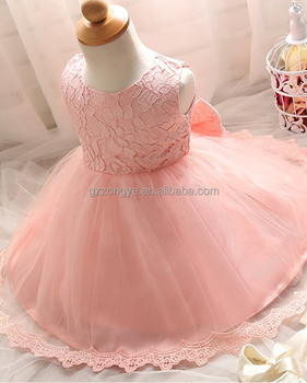 2017 latest design lace bowknot tulle floral summer princess children girls wedding dress