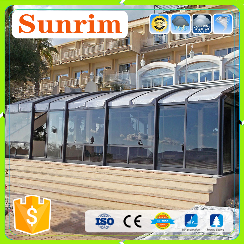 Shade Clear Polycarbonate Retractable Sunroom Plastic Patio Enclosures