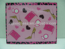 HOT SALE LADIES PINK PATTERN TEMPERED GLASS CUTTING BOARD