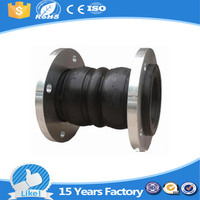 18 months warranty double sphere rubber joint with casting flange