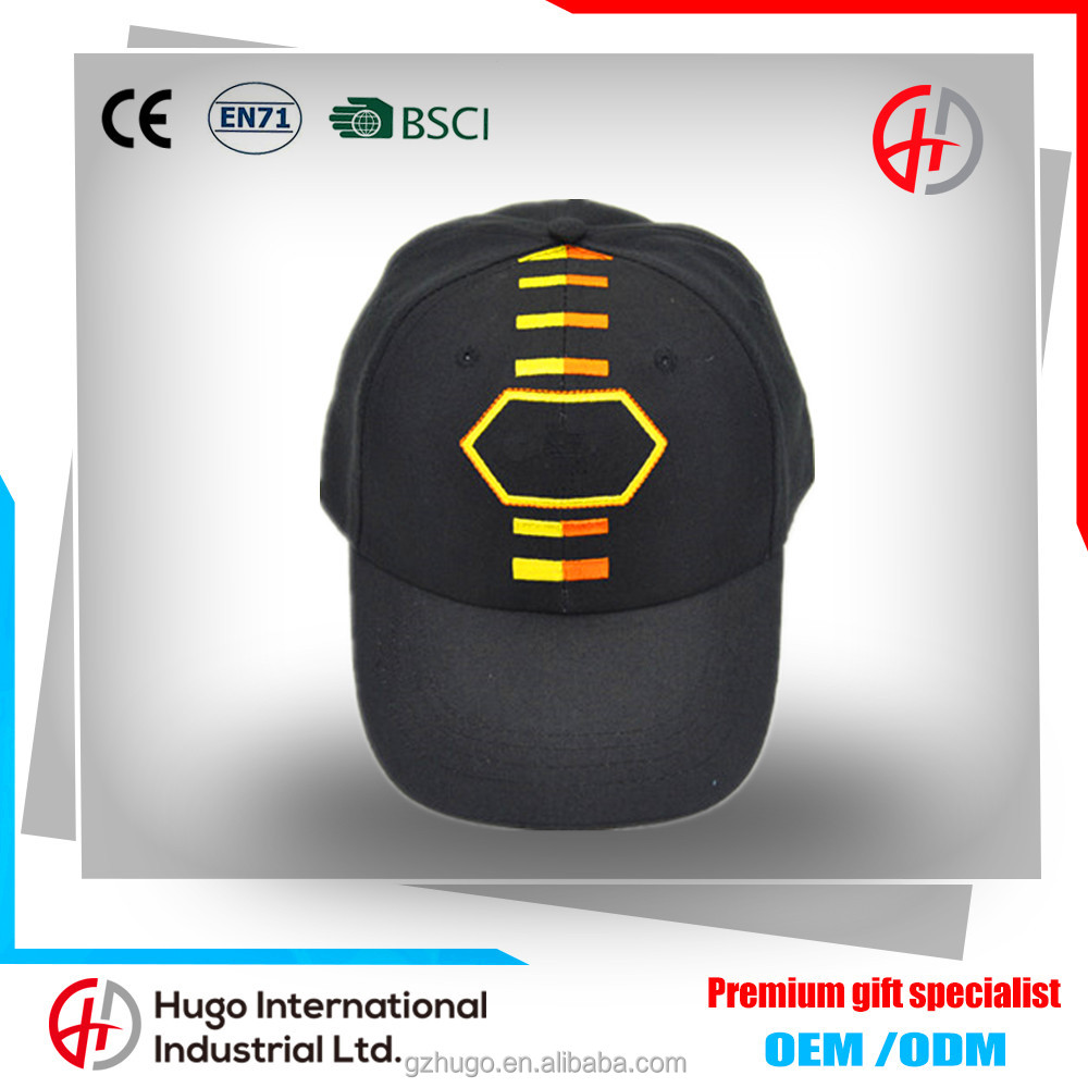 New fashion Men&Womens custom black promotional adjustable plastic buckle baseball cap