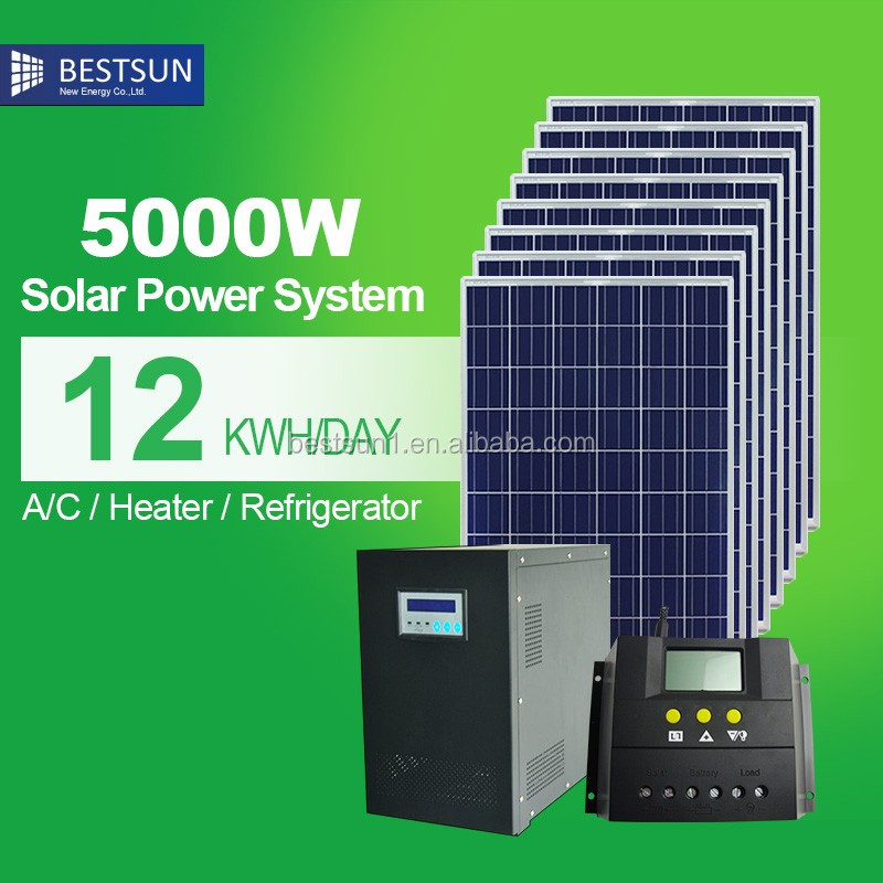Pv Industry Competitive Price 5kw Home Solar Systems Grid