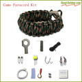 Firestarter Paracord Bracelet Survival Kit with Scraper Knife