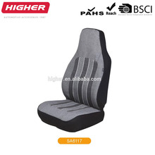 Wholesale stretchy car seat cover polyester/leather car 5 seat in grey/beige colour