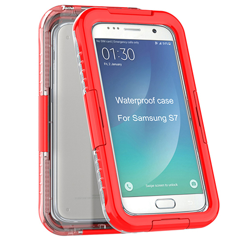 Full protective plastic 5.1inch smartphone waterproof case