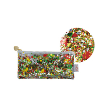 Factory price prety durable sequin PVC pencil case pouch weight