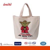INITI Fashion Custom Standard Size Cotton Canvas Tote Bag with Print