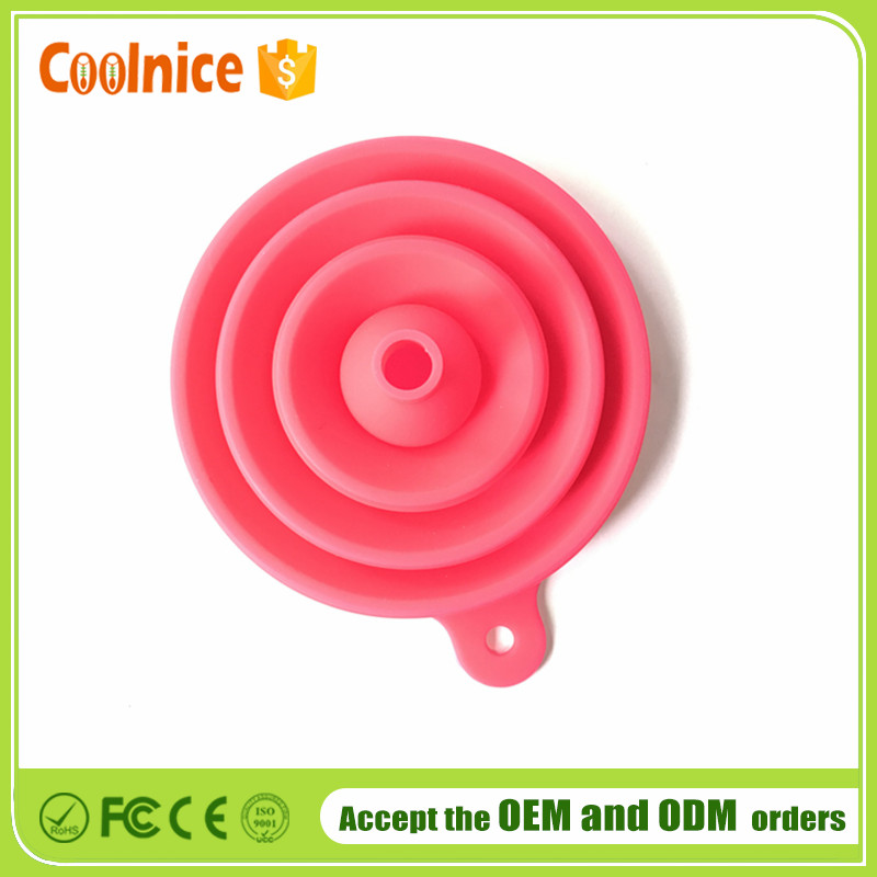 Collapsiable Large Funnel, Foldable Silicone Funnel