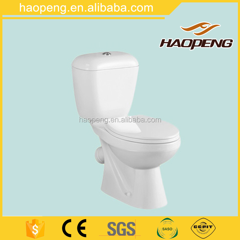 Best selling ceramic washdown two piece toilet commode / close couple water closet