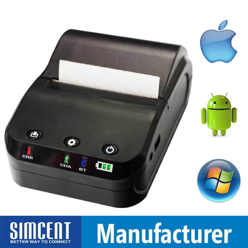 mobile bluetooth wireless thermal printer