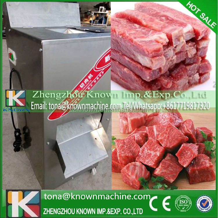 Certificated automatic 1.5kw strong motor beef fillet cutting cutter machine
