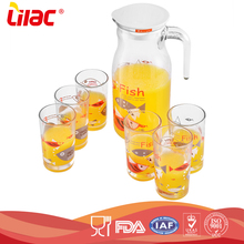 LILAC factory Wholesale OEM Best Selling Crystal Clear Eco-Friendly glass water jug set