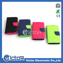 Korean contrast color universal leather case for smart mobile phone , suitable for any size