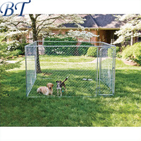 Metal Hot dip galvanized chain link animal cages/pet run fence/large dog house