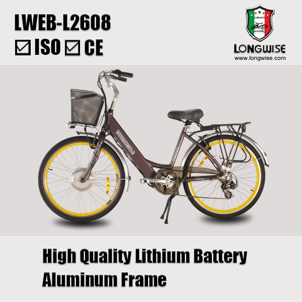 USB charging port for i-phone on battery Aluminum frame electric bicycle for sale