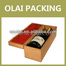 High Grade Wooden Wine Gift Box With Plocking,Wooden Wine Case For One Bottle,Wooden wine package