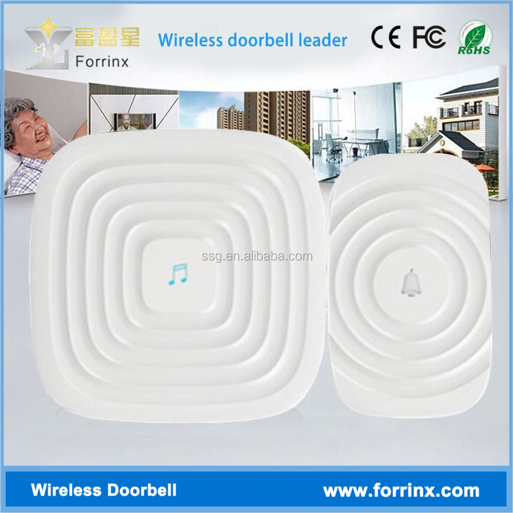 Forrinx H4 Water Ripple Surface Touch Button 52 Melodies Battery Powered DC Ding Dong Door Bell 12v