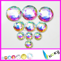 Highest quality flat back/ sew-on strass crystal /transparent ab color strass facets rhinestone with/without holes glue on