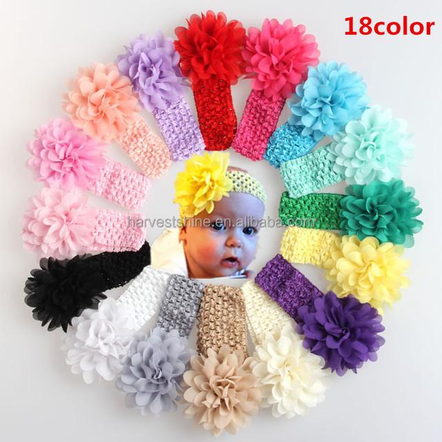 Winter Fancy Knitted Hair Band,Elastic Big Flower Hair Band