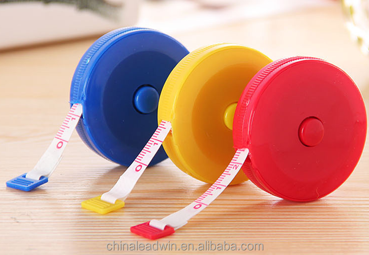 Various Promotional fashion design blue tape measure keychain