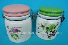 porcelain storage canister set food container