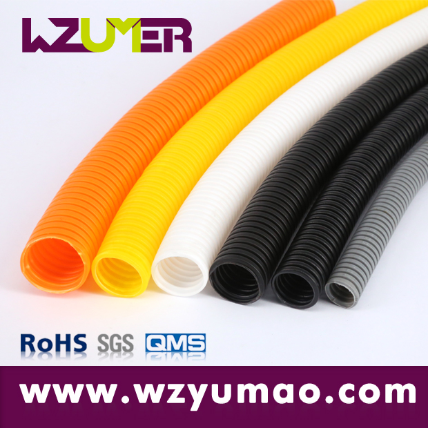 WZUMER machineries electrical equipment Chemical corrosion Wavy shape PE Flexible hose