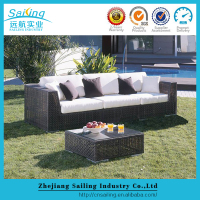 Large lounge sofa set and aluminum frame cheap outdoor l-shape sofas
