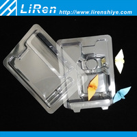 New Design Clear Clamshell Transparent Plastic Blister Flashlight Packaging Container Tray