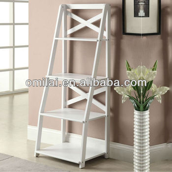 Ecnomic bookshelf ladder design furniture