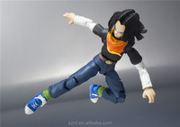 dragon ball no.17 action model toy/custom non-toxic PVC 3D action figure/china plastic toy factory
