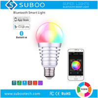 Bluetooth energy efficiency smart LED color programmable light bulb 640lm 7.5W White + 7W RGB E27 B22 App Controlled for home