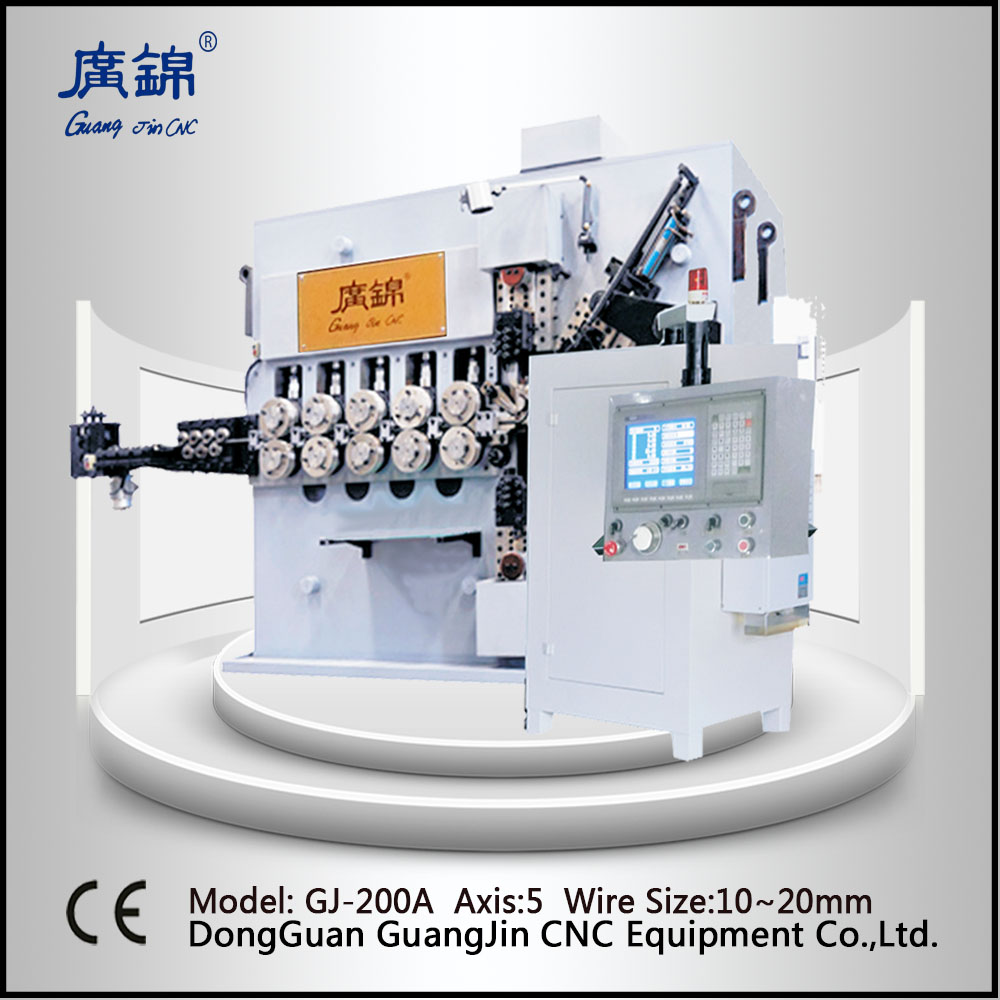 Large compress spring coiling machine 10mm to 20mm vehicle agriculture equipment power spring making machine