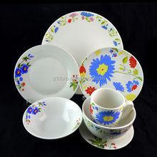 2016 new Pakistan ceramic porcelain soup plate, plate serving dishes with silver line/dishwasher safe deep plate