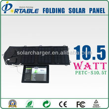 10.5W mobile phone folding solar charger contronller kit