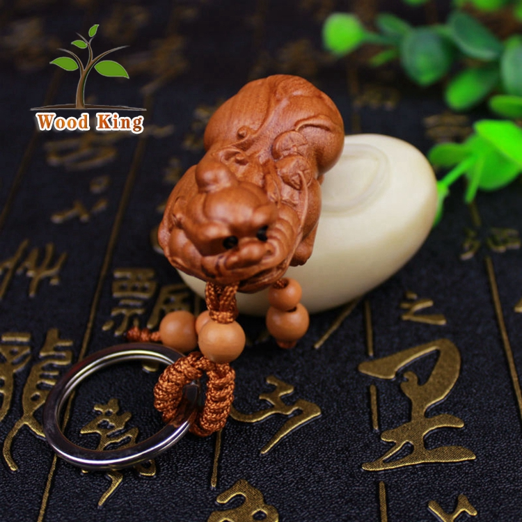 The Factory Sells Wooden Handicraft Directly Mascot Key Chain Custom Logo Animals Key Chain