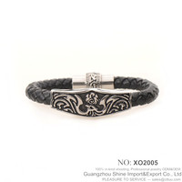 Fashion Charming Handmade Men Engraved stainless steel bracelet XE11-0081