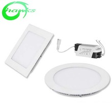 3w to 24w Round/ Square LED Troffer <strong>Flat</strong> CE ROHS Ultra Slim white 6000k LED Panel Light