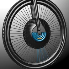 Magic product Imotor, electric bicycle wheel with mini battery