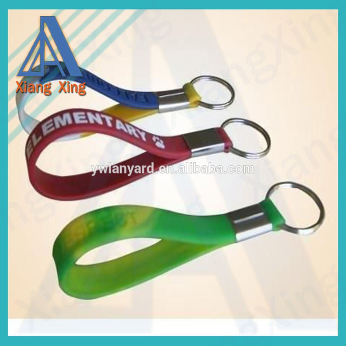 Multi Color Blank Silicone Key Chain for keys
