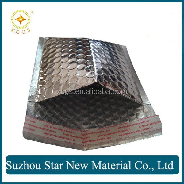 Matt or shiny Metallic Bubble Envelopes with self seal
