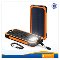 AWC938 12000mah fullbright dual usb mini solar power bank for mobile phones outdoor solarpower bank