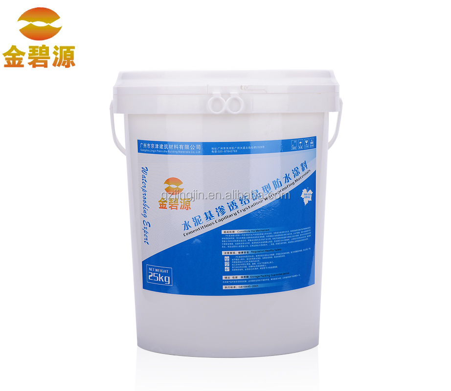 Cement based permeable crystallization type waterproof coating