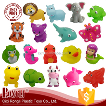 New Design Free Sample Colorful Floating Swimming Bath Animal Toys