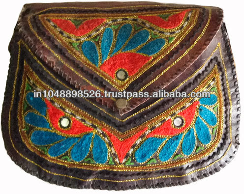 Stylish Pure Leather Embroidered Ladies Bags, Clutches, Purses and Handbags